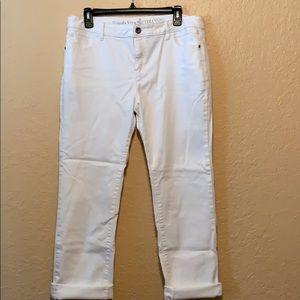 Simply Vera white crop stretch jeans
